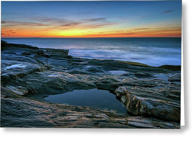 Sunrise Over Pemaquid Point Greeting Card by Rick Berk