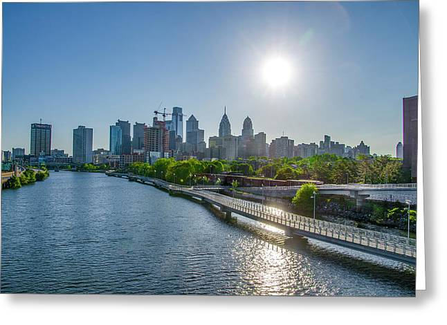 Sunrise Over Philadelphia From South Street Greeting Card