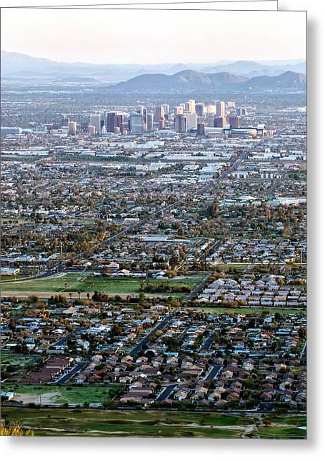 Sunrise Over Phoenix Arizona Greeting Card