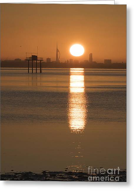 Sunrise Over Portsmouth Greeting Card