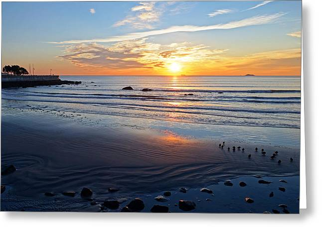 Sunrise Over Red Rock Park Lynn Shore Drive Greeting Card