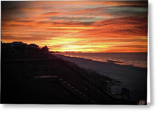 Sunrise Over Santa Rosa Beach Greeting Card