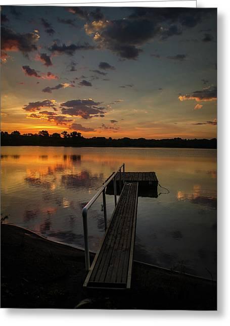 Sunrise Over Stuber's Dock V Greeting Card