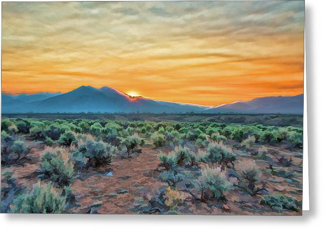 Sunrise Over Taos Greeting Card