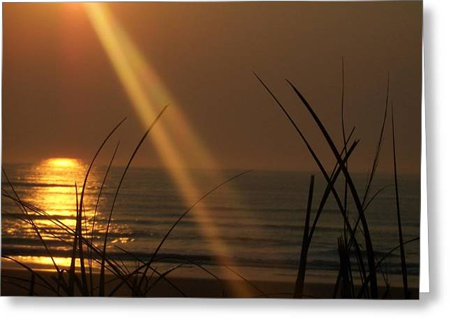 Sunrise Over The Atlantic Greeting Card by James and Vickie Rankin