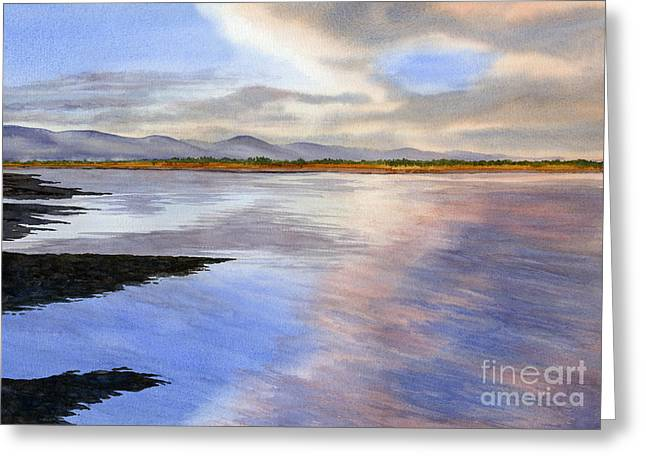 Sunrise Over The Bay Greeting Card by Sharon Freeman