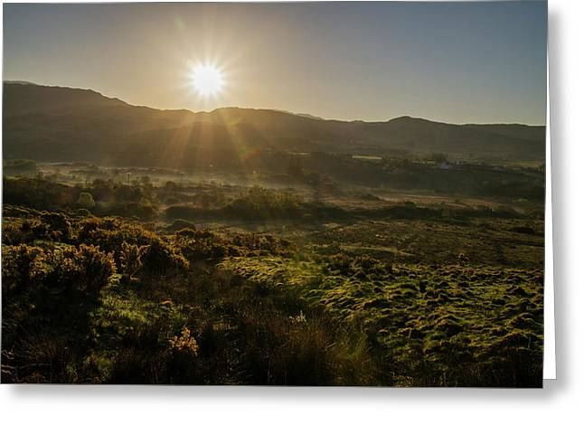 Sunrise Over The Bluestack Mountains In Donegal Ireland Greeting Card