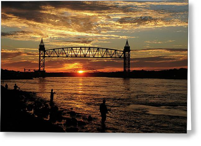 Sunrise Over The Canal Greeting Card by Nancy Marshall