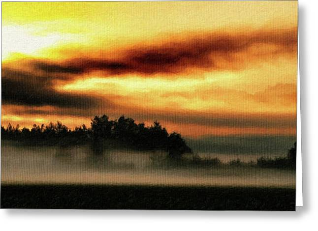 Sunrise Over The Cascades Greeting Card by DMSprouse Art