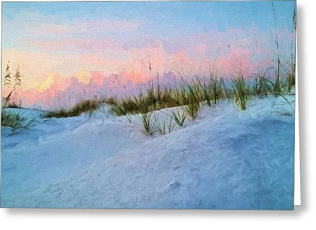 Sunrise Over The Dunes Of South Walton Greeting Card