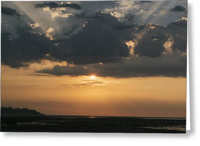 Sunrise Over The Isle Of Wight Greeting Card