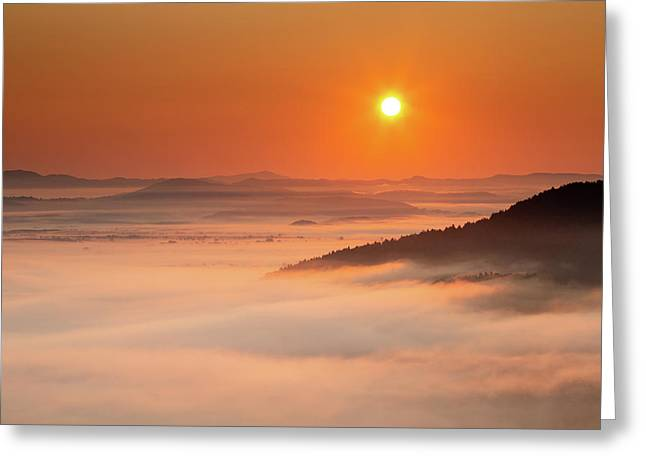 Sunrise Over The Moors Greeting Card