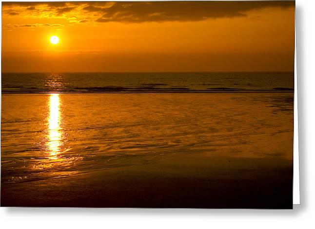 Sunrise Over The Ocean Greeting Card by Svetlana Sewell