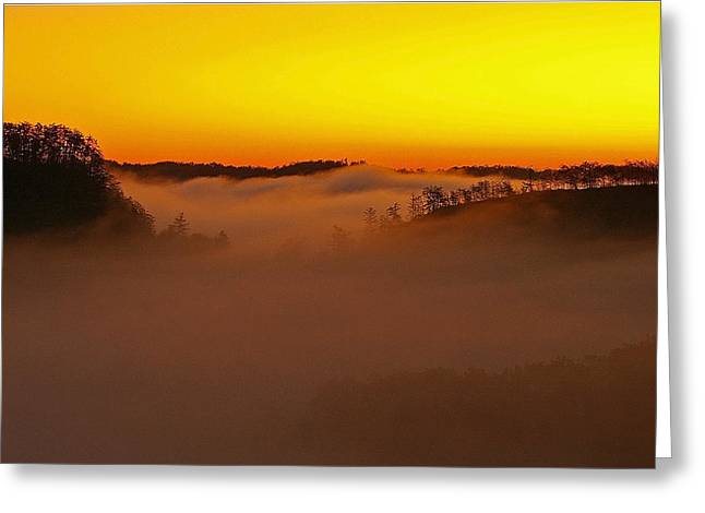 Sunrise Over The Red River Gorge. Greeting Card