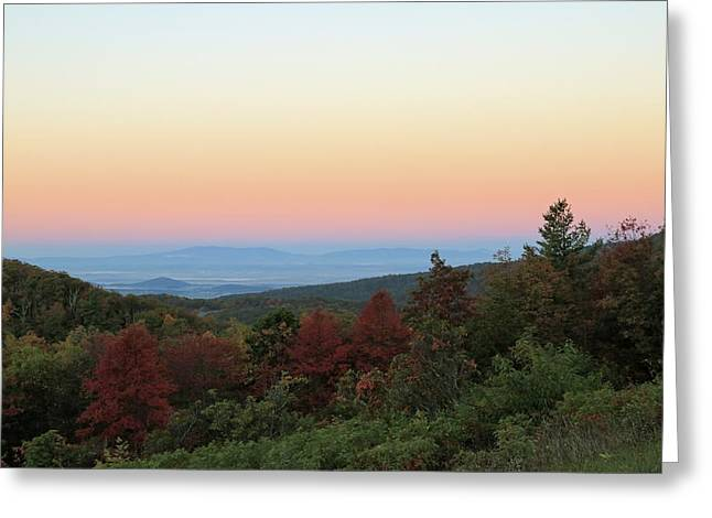 Sunrise Over The Shenandoah Valley Greeting Card