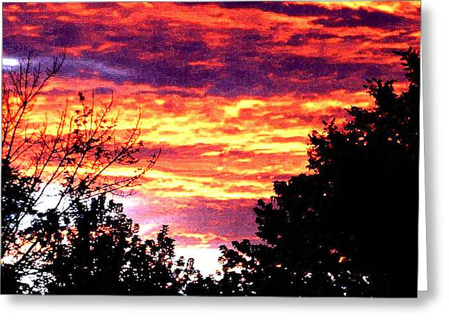 Sunrise Over The S.p. Greeting Card by Nathaniel Hoffman