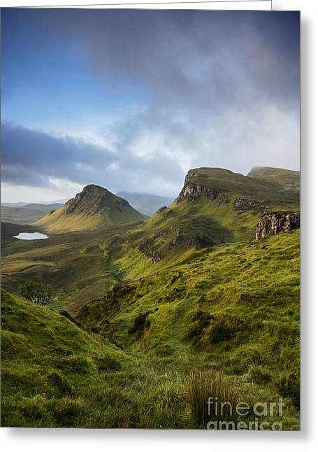 Sunrise Over The Trotternish Ridge Greeting Card