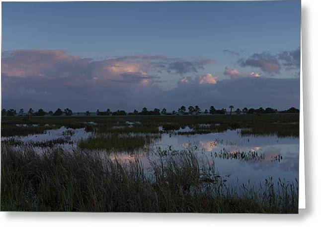 Sunrise Over The Wetlands Greeting Card