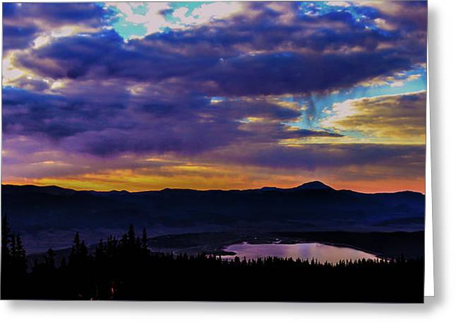 Sunrise Over Twin Lakes Greeting Card by Martina Haaga