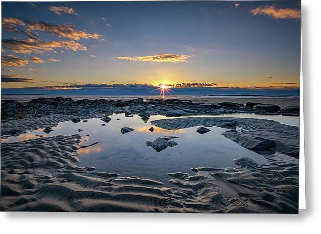 Sunrise Over Wells Beach Greeting Card by Rick Berk