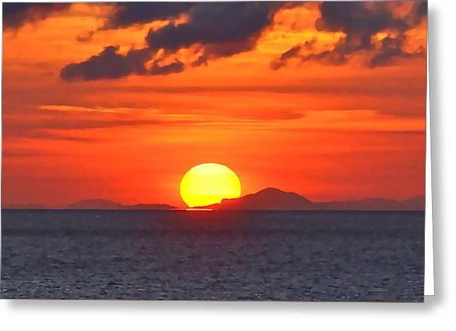 Sunrise Over Western Cuba Greeting Card