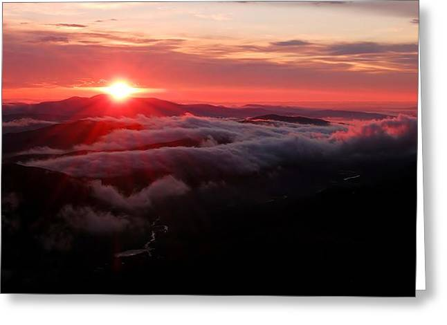 Sunrise Over Wyvis Greeting Card