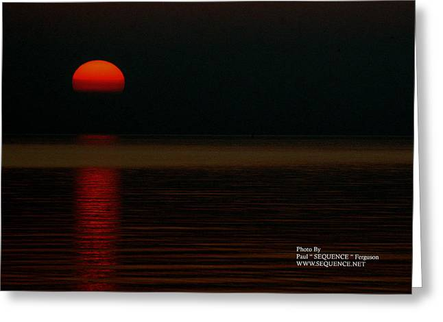 Sunrise Greeting Card by Paul SEQUENCE Ferguson             sequence dot net