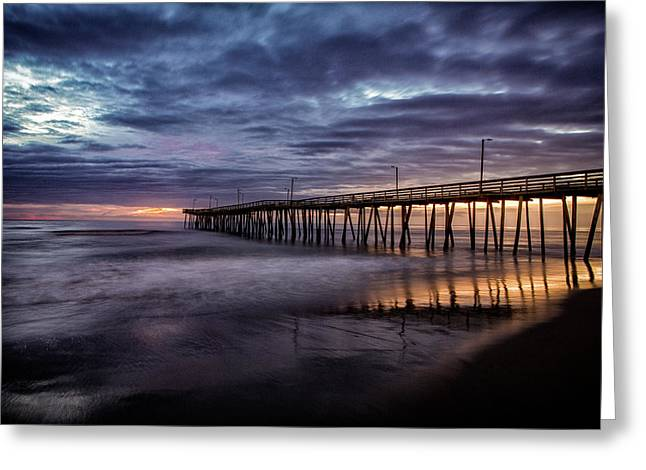 Sunrise Pier Greeting Card