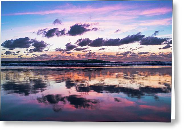Sunrise Pink Wisps Delray Beach Florida Greeting Card