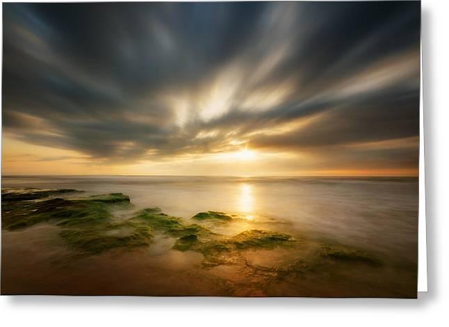 Sunrise Greeting Card by Piotr Krol (bax)