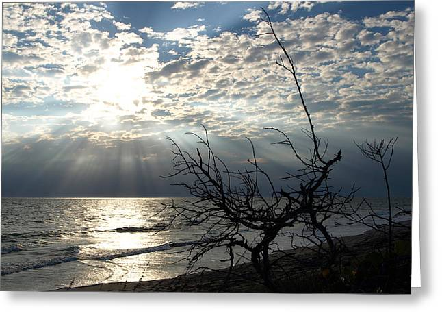 Sunrise Prayer On The Beach Greeting Card by Allan  Hughes