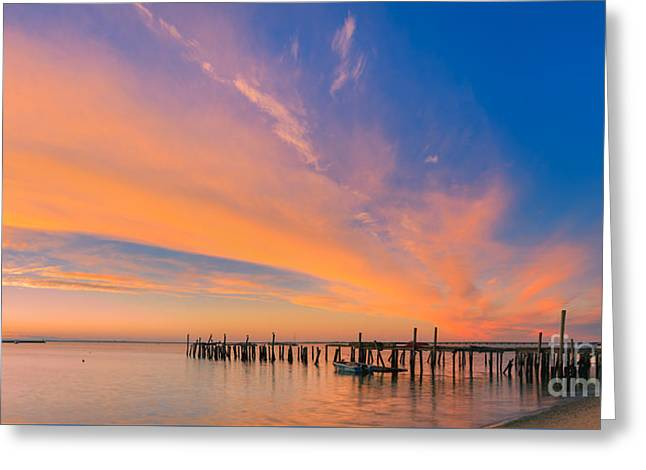 Sunrise Provincetown, Cape Cod, Massachusetts Greeting Card by Henk Meijer Photography