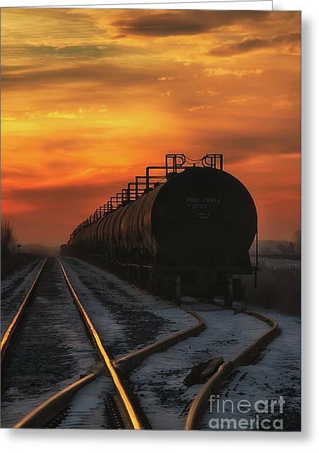 Sunrise Rail Greeting Card