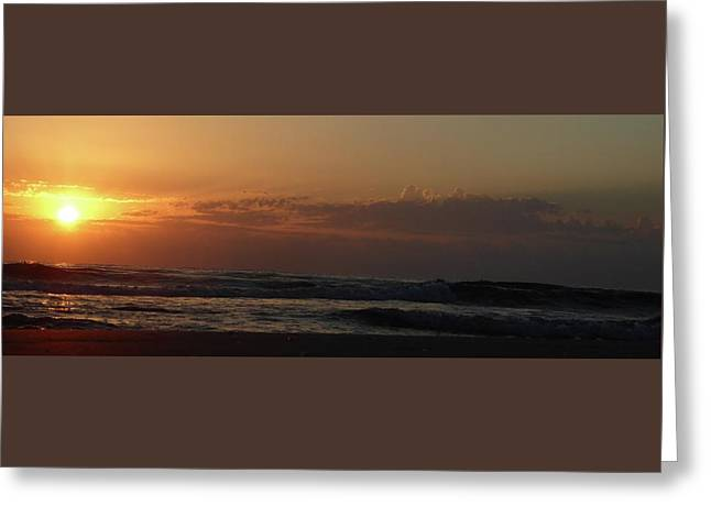 Sunrise Greeting Card by Rayne Van Sing