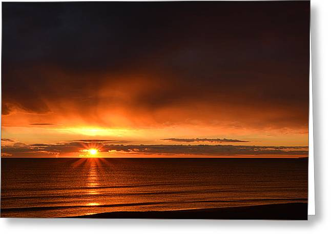 Sunrise Rays Greeting Card