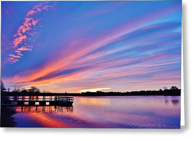 Sunrise Reflecting Greeting Card