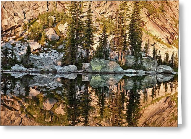 Sunrise Reflection Greeting Card by Leland D Howard