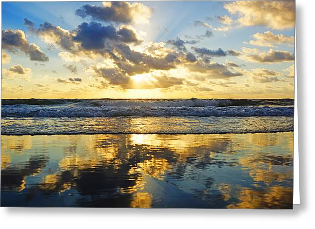 Sunrise Reflections Greeting Card
