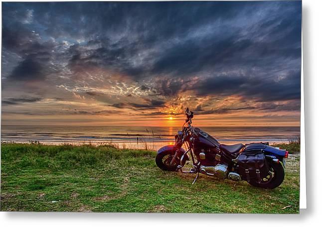 Sunrise Ride Greeting Card