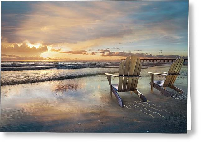 Greeting Card featuring the photograph Sunrise Romance by Debra and Dave Vanderlaan