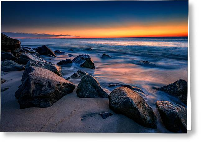 Sunrise, Sandy Hook Greeting Card by Rick Berk