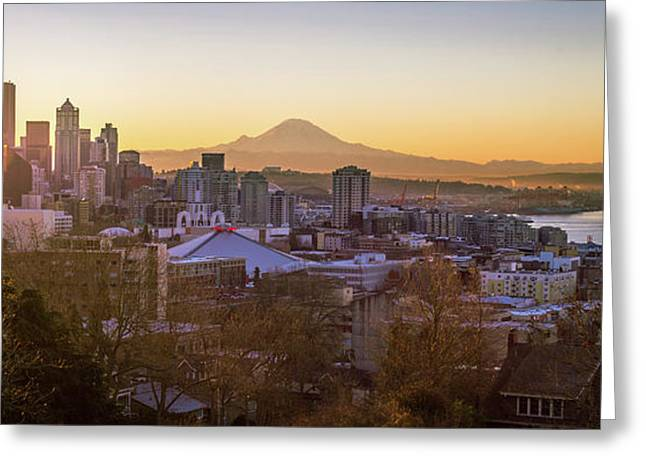 Seattle Sunrise Greeting Card