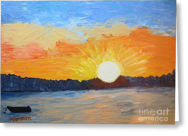 Sunrise At Pine Point Greeting Card