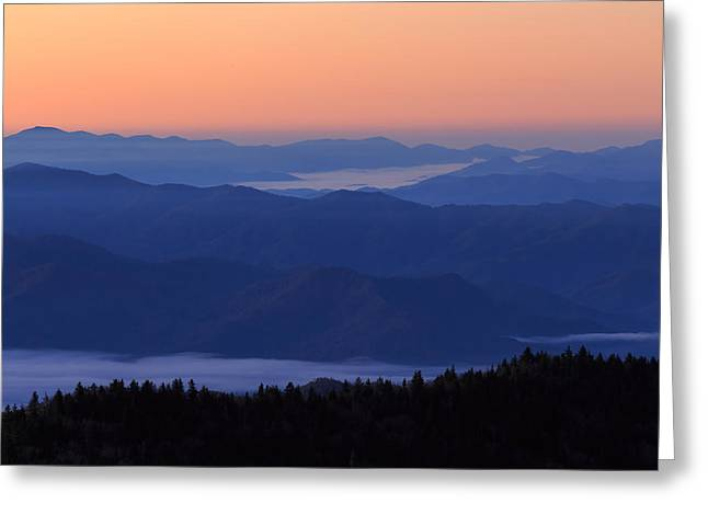 Greeting Card featuring the photograph Sunrise Silhouette by Paul Schultz