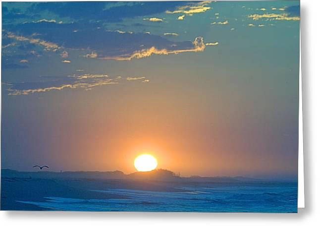 Greeting Card featuring the photograph Sunrise Sky by  Newwwman