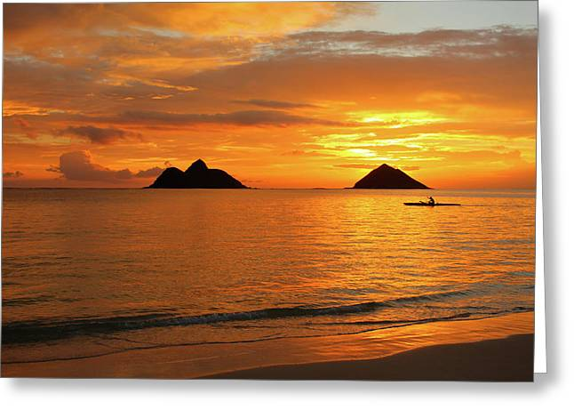 Sunrise Solo Greeting Card by Brian Governale