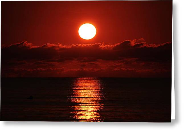 Sunrise Spotlight Delray Beach Florida Greeting Card