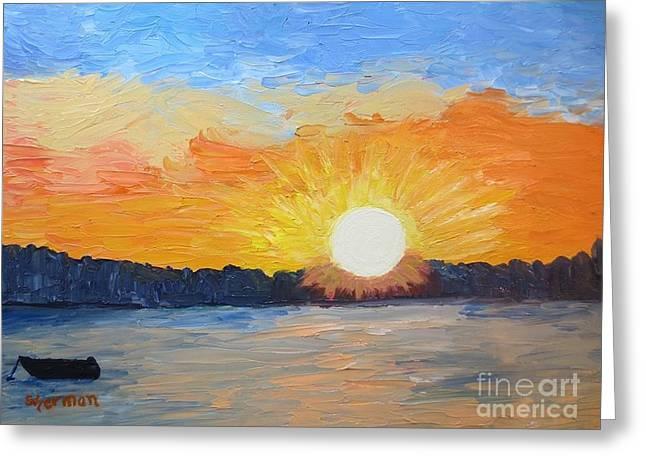 Sunrise Sensation Greeting Card by Stella Sherman