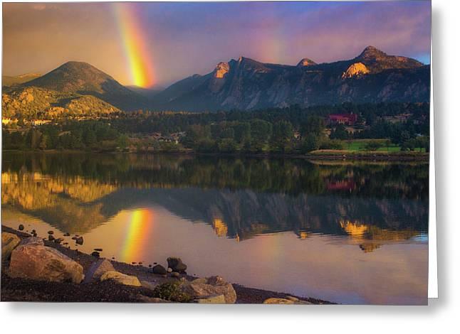 Sunrise Summer Rainbow In Colorado Greeting Card