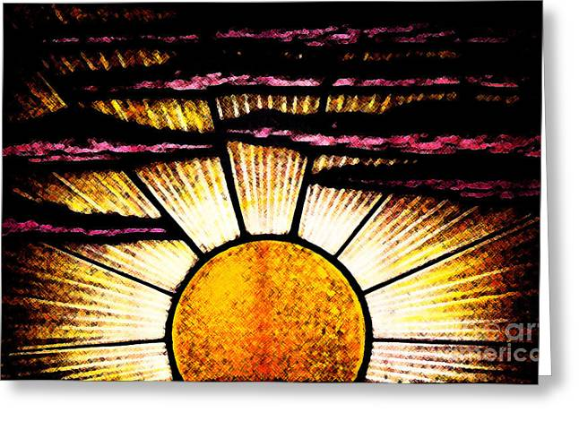 Greeting Card featuring the photograph Sunrise Sunset by Linda Shafer